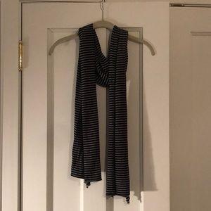 Black with white stripes J Crew cotton scarf